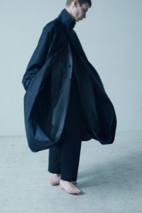 stein       LAY OVERSIZED WIND COAT・NAVY