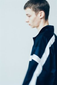 stein       SHIFTED HALF ZIP TOP・NAVY