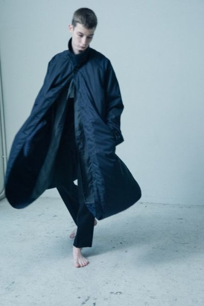 画像2: stein       LAY OVERSIZED WIND COAT・NAVY