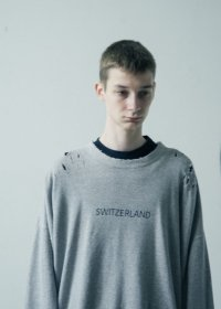 stein       OVERSIZED REBUILD SWEAT LS・GRAY