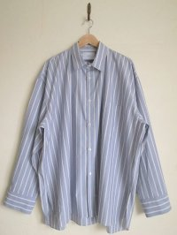 stein       OVERSIZED DOWN PAT SHIRT・BLUE
