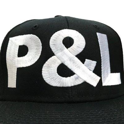 画像2: PEEL&LIFT        block letter cap P&Lキャップ・ブラック