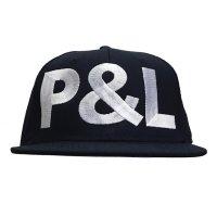 PEEL&LIFT        block letter cap P&Lキャップ・ブラック