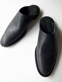 ISHMM       sabot shoes・ALL BLACK
