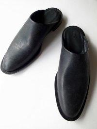 ISHMM       sabot shoes・ALL BLACK