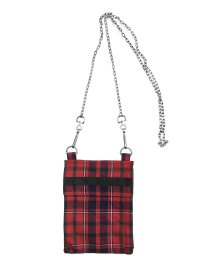 PEEL&LIFT       chain pouch チェーンポーチ・red tartan