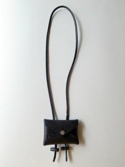 画像1: ebagos  エバゴス  型押しキップレザーフウトウバッグチャーム