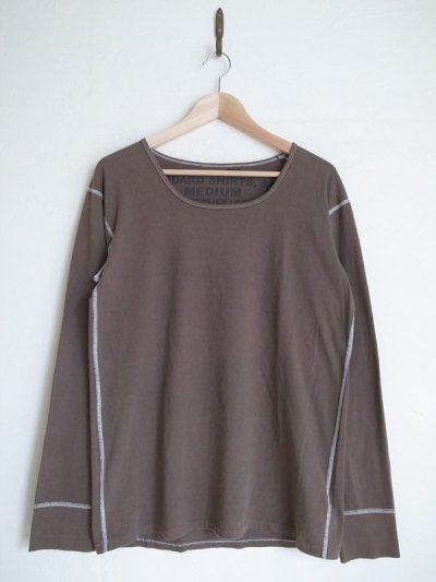 画像1: gilet ジレ       30%OFF BEAUTIFUL OLIVE UNDER SHRTS リメイクL/S