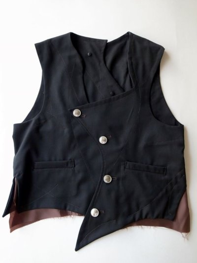 """画像1: sulvam       サルバム """"crazy vest""""クレイジーパターンベスト"""