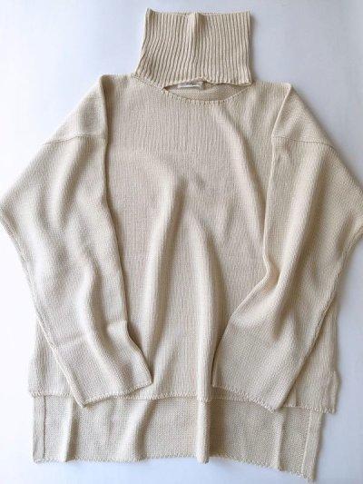 """画像1: sulvam       サルバム """"high neck knit""""スリットハイネックニット"""
