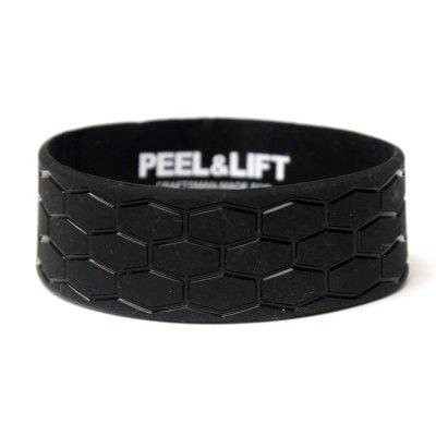 画像1: PEEL&LIFT        tire tread wristband リストバンド・black
