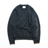 stein       OVERSIZED REBUILD SWEAT LS・BLACK