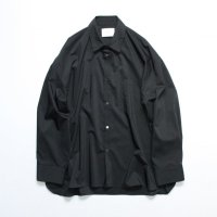 stein       OVERSIZED DOWN PAT SHIRT・BLACK