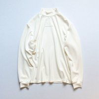 stein       OVERSIZED HIGH NECK LS・WHITE