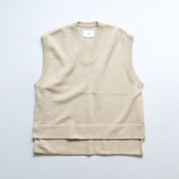 stein       BACK DOUBLE KNIT VEST・BEIGE