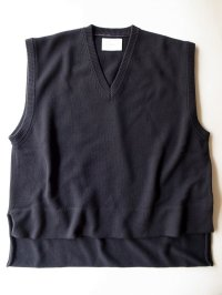 stein       BACK DOUBLE KNIT VEST・DARK NAVY