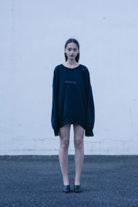 stein       OVERSIZED REBUILD SWEAT LS・NAVY