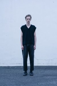 stein       BACK DOUBLE KNIT VEST・BLACK
