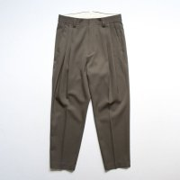 stein       TWO TUCK WIDE TROUSERS・DARK BR. KHAKI