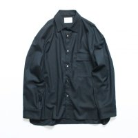 stein       OVERSIZED DOWN PAT SHIRT WOOL・BLACK