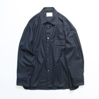 stein       OVERSIZED DOWN PAT SHIRT WOOL・DARK NAVY
