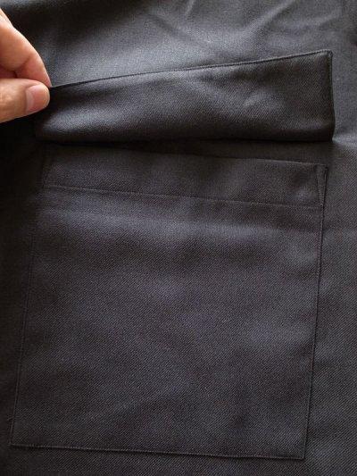 画像2: stein       OVERSIZED DOWN PAT SHIRT WOOL・BLACK