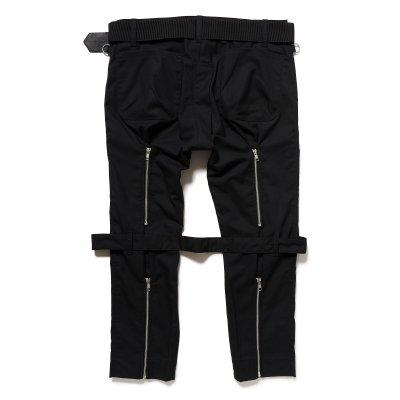 画像2: PEEL&LIFT        bondage trousers modern ブラックボンテージトラウザース