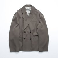 stein        OVERSIZED DOUBLE BREASTED JACKET・DARK BR. KHAKI