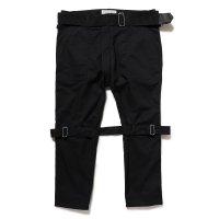 PEEL&LIFT        bondage trousers modern ブラックボンテージトラウザース