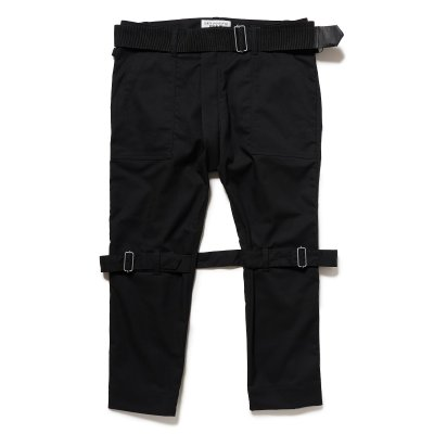 画像1: PEEL&LIFT        bondage trousers modern ブラックボンテージトラウザース