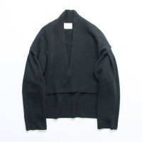 stein       LAY DEEP V NECK KNIT LS・BLACK