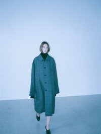 stein       OVER SLEEVE INVESTIGATED COAT・GLEN CHECK