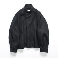 stein       OVER SLEEVE BOA MELTON JACKET・BLACK