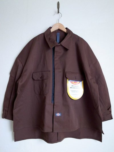 画像1: SHINYAKOZUKA       シンヤコヅカ SHIRT-ISH JACKET with DICKIES・CHOCO