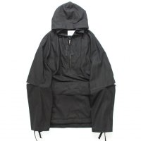 stein       OVERSIZED DIVIDE SLEEVE ANORAK・BLACK