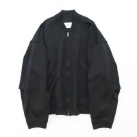stein       DIVIDE SLEEVE KNIT ZIP JACKET・BLACK