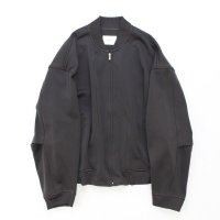 stein       DIVIDE SLEEVE KNIT ZIP JACKET・CHARCOAL