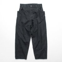 stein       EX WIDE HOOKED DENIM JEANS・BLACK