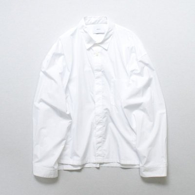 画像1: stein       OVER SLEEVE COMBINE SHIRT JACKET・-minus
