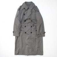 stein       DOUBLE SHADE TRENCH COAT・GLEN CHECK