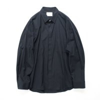stein       FLY FRONT SLEEVE OVERSIZED SHIRT・MID NIGHT