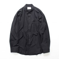 stein       FLY FRONT SLEEVE OVERSIZED SHIRT・BLACK