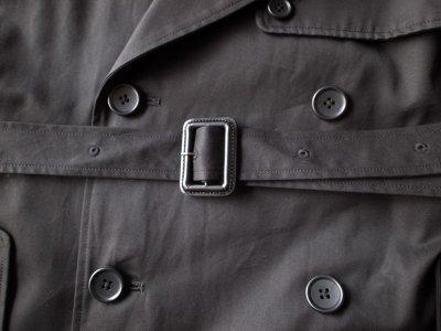 画像2: stein       DOUBLE SHADE TRENCH COAT・BLACK