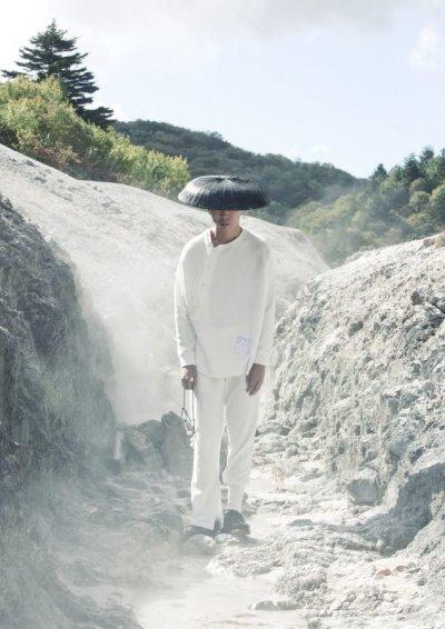 画像2: SOSHI OTSUKI       ソウシオオツキ KIMONO BREASTED THERMAL・WHITE