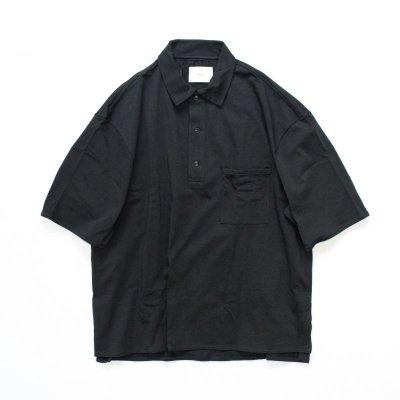 画像1: stein       POLO HALF SLEEVE SHIRT・BLACK