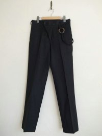 SOSHI OTSUKI       ソウシオオツキ MOMOHIKIBREASTED TROUSERS LINEN・BLACK