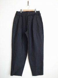 SOSHI OTSUKI       ソウシオオツキ OFFICER TROUSERS LINEN・BLACK