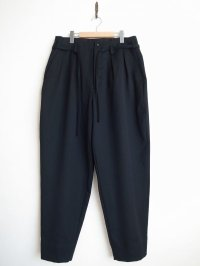 SOSHI OTSUKI       ソウシオオツキ OFFICER TROUSERS WOOL・BLACK