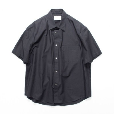 画像1: stein       OVER SLEEVE SS SHIRT・DARK NAVY