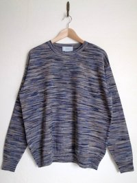 yoke ヨーク       12G SPLASHED PATTERN CREW NECK KNIT